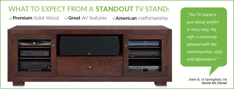 solid wood tv stands by standout designs