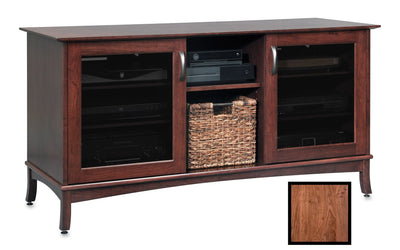Norwalk 60-inch Solid Wood Media Console (Middle Adjustable Shelf)