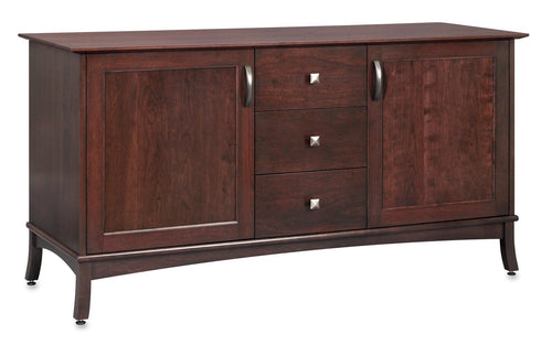 60 inch Espresso Media Console with Wood Doors