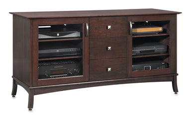 Norwalk 60-inch Wood Media Console (3 Media Drawers)-Standout Designs