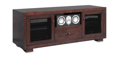 Haven EX 64-inch Solid Wood Media Console (Center Speaker Shelf and Media Drawer)