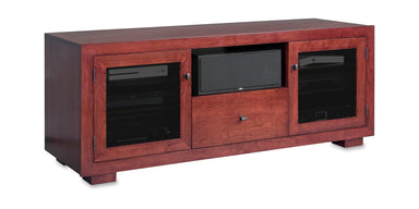 Haven EX 64-inch Solid Wood Media Console (Center Speaker Shelf and Media Drawer)-Standout Designs