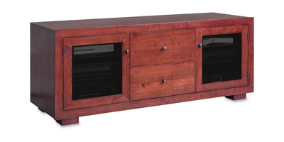 Haven EX 64-inch Solid Wood Media Console (2 Media Drawers)-Standout Designs