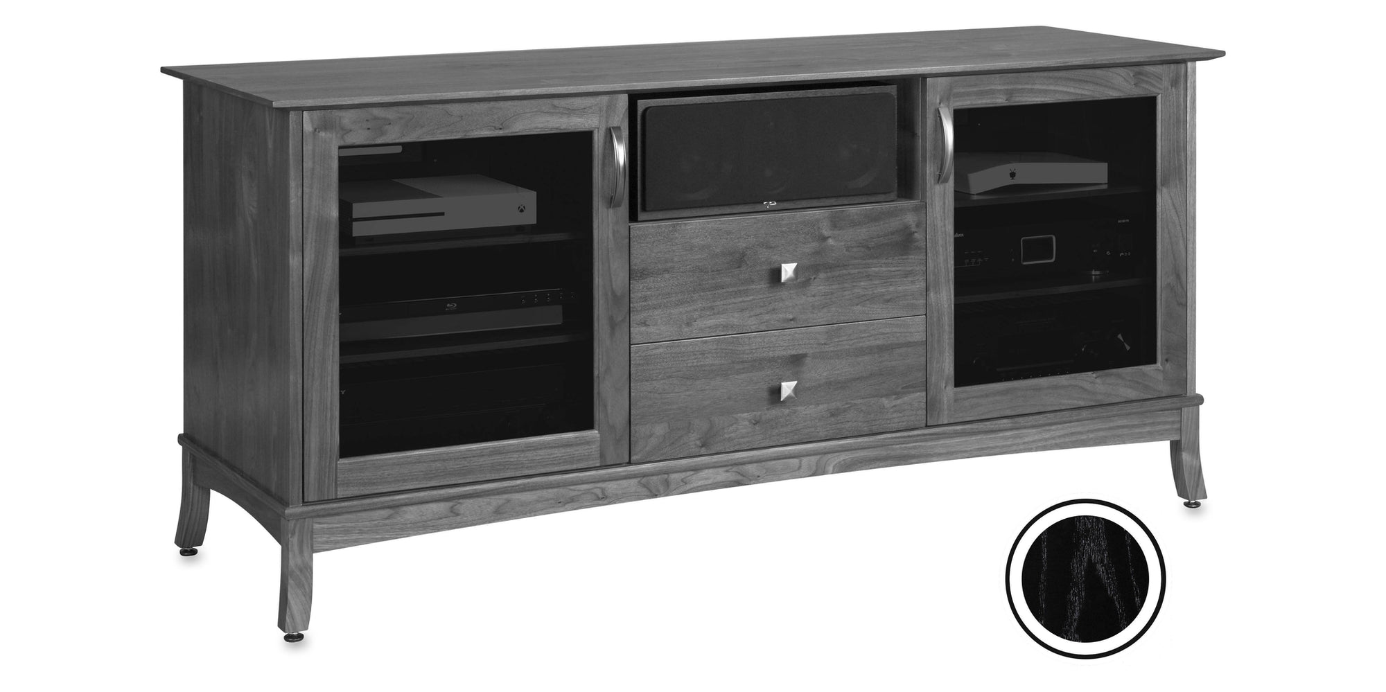Norwalk 66 American Solid Wood Av Media Console Tv Stand