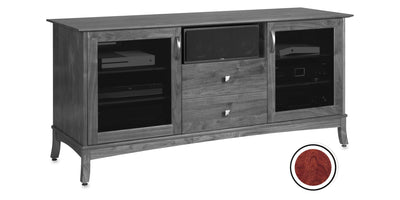 Norwalk 66-inch Solid Wood Media Console (Center Speaker Shelf and 2 Media Drawers)
