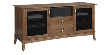 Norwalk 66-inch Solid Wood Media Console (Center Speaker Shelf and 2 Media Drawers)-Standout Designs