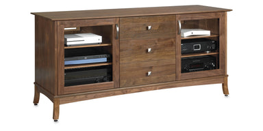 Norwalk 66-inch Solid Wood Media Console (3 Media Drawers)-Standout Designs
