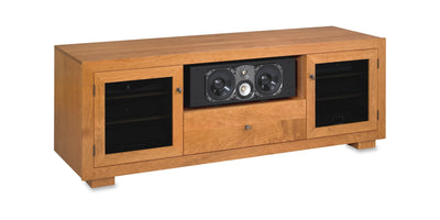 Haven EX 72-inch Solid Wood Media Console (TV Stand with Center Shelf and Media Drawer)