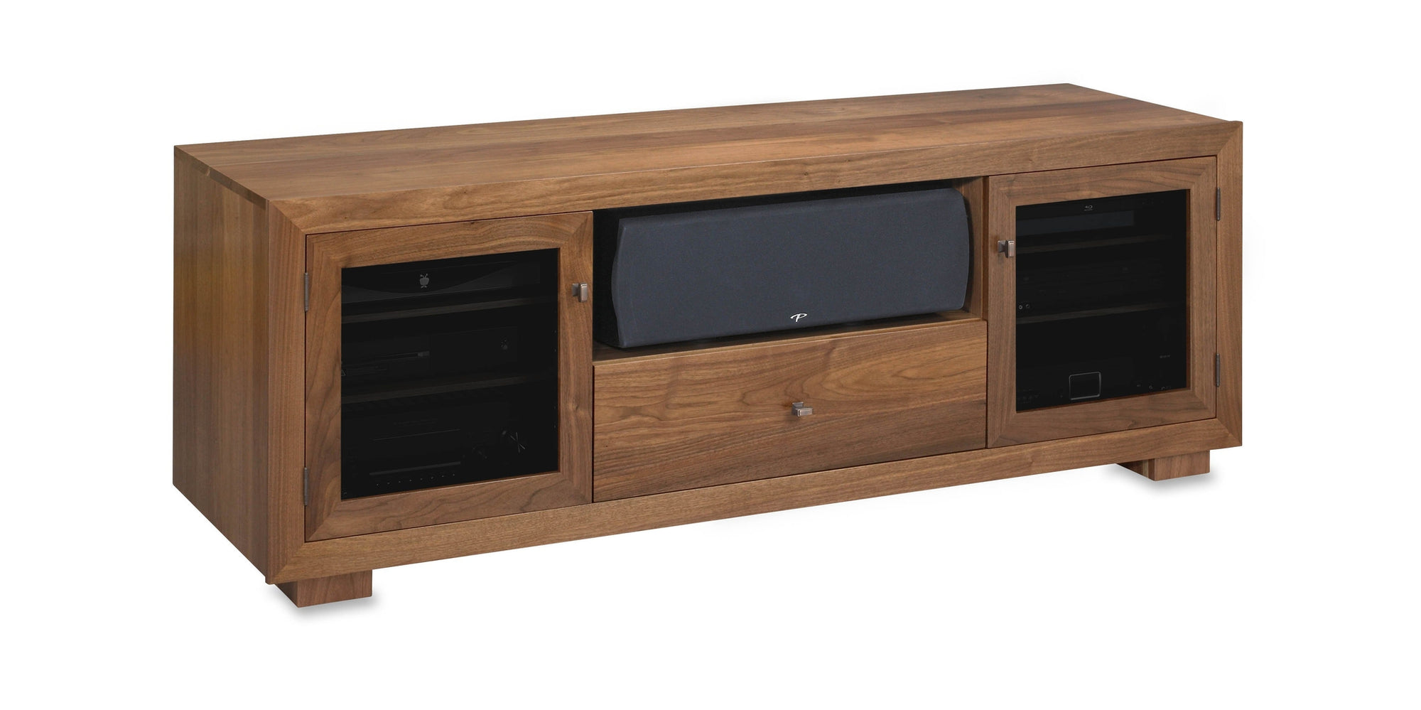 Incroyable Haven EX 72 Inch Solid Wood Media Console (Center Speaker Shelf And Media  Drawer