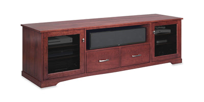 Horizon EX 82-inch Solid Wood Media Console (Center Speaker Shelf and 2 Media Drawers)
