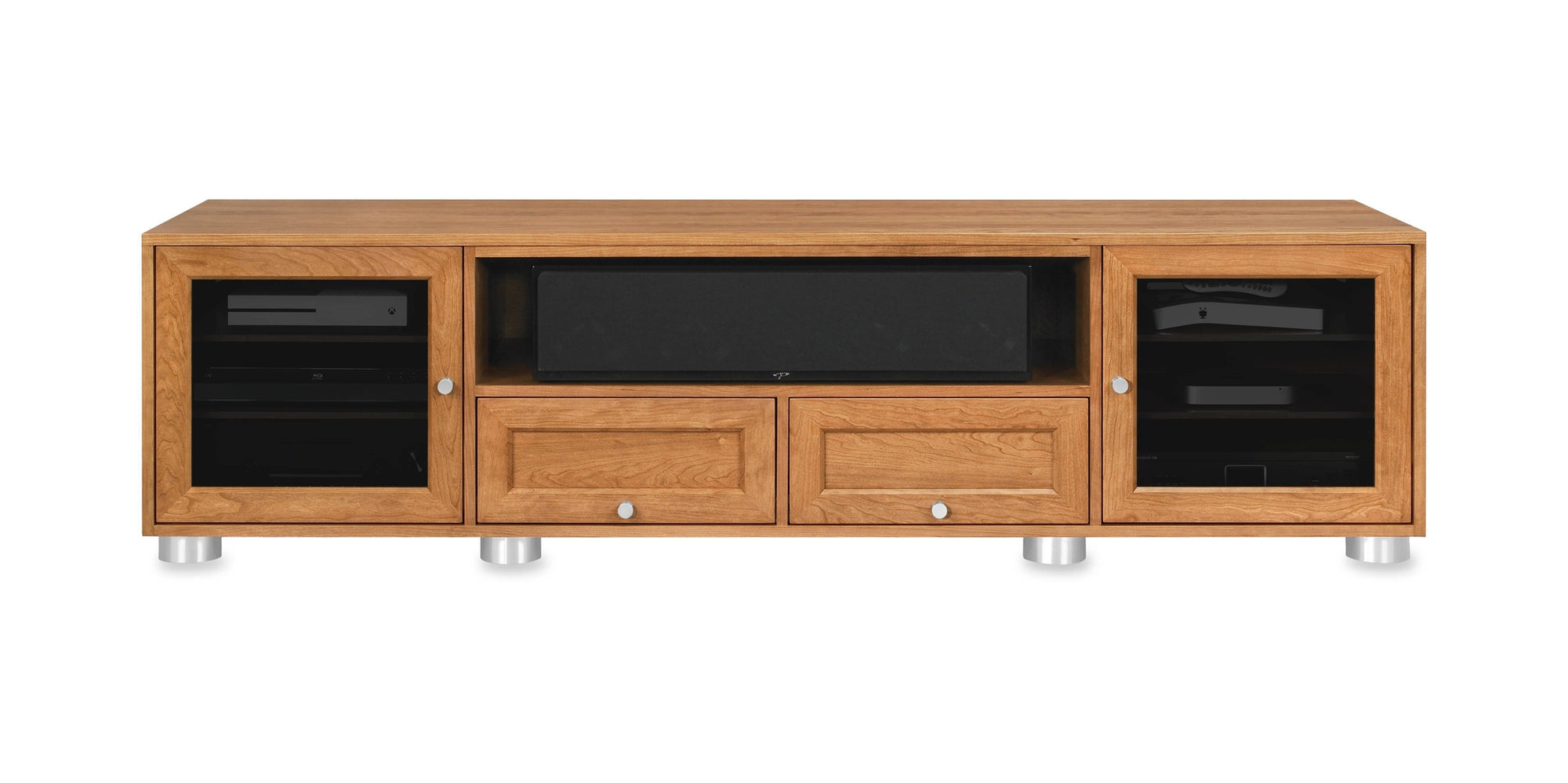 Majestic Ex 82 In American Solid Wood Media Console Tv Stand For