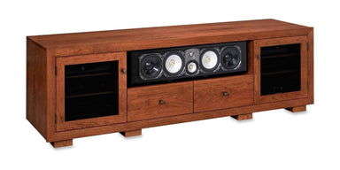 Haven EX 82-inch Solid Wood Media Console (Center Speaker Shelf and 2 Media Drawers)-Standout Designs