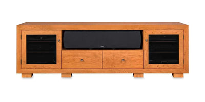 Haven EX 82-inch Solid Wood Media Console (Center Speaker Shelf and 2 Media Drawers)