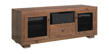 Customized Haven EX 64-inch Solid Wood Media Console (Center Speaker Shelf and Media Drawer)