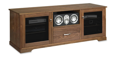 Customized Horizon EX 64-inch Solid Wood Media Console (Center Speaker Shelf and Media Drawer)