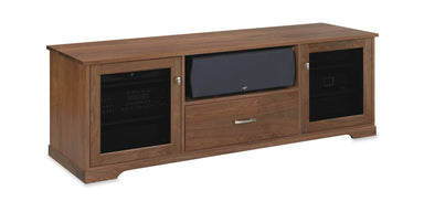 Customized Horizon EX 72-inch Solid Wood Media Console (Center Speaker Shelf and Media Drawer)