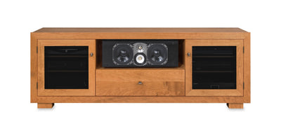 Customized Haven EX 72-inch Solid Wood Media Console (Center Speaker Shelf and Media Drawer)