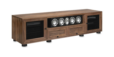 Customized Majestic EX 82-inch Solid Wood Media Console (Center Speaker Shelf and 2 Media Drawers)