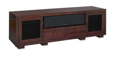 Customized Haven EX 82-inch Solid Wood Media Console (Center Speaker Shelf and 2 Media Drawers)