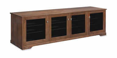 Customized Horizon EX 84-inch Solid Wood Media Console (4 Enclosures)