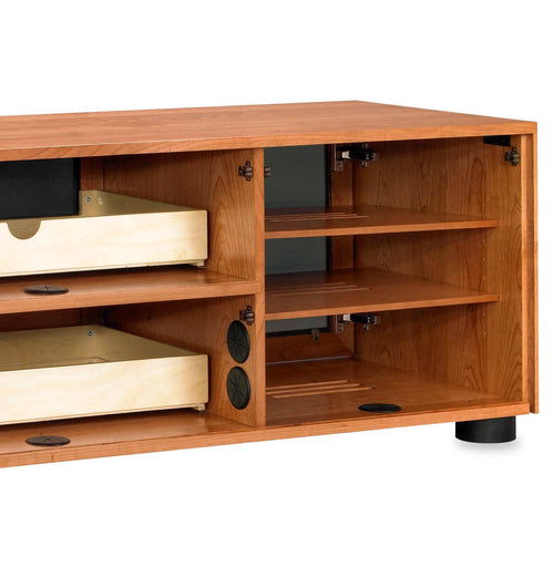 media console with wire / cable management