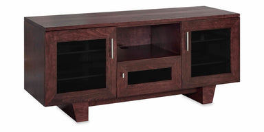 Photo Sample — The Quest 64-inch Solid Wood Media Console (3 Enclosures and Center Speaker Shelf)