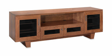Photo Sample — The Quest 85-inch Solid Wood Media Console (4 Enclosures and Center Speaker Shelf)