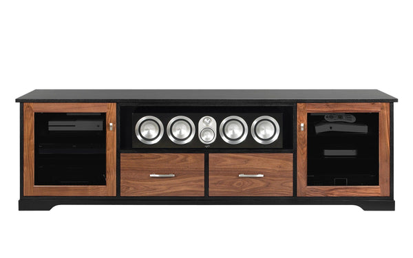 Free Horizon Ex Inch American Solid Wood Media Console Tv Stand Av Cabinet  With Walnut Media Cabinet