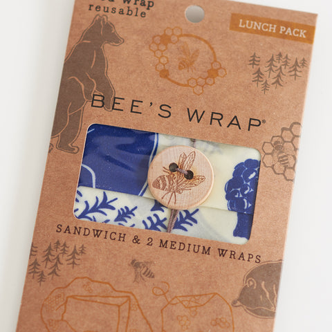 Wax Wrap - Bees + Bears Print - Lunch Wrap