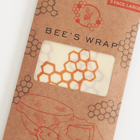 Wax Wrap - Honeycomb Print - Large Set Of 3 Wraps