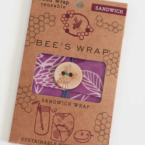 Wax Wrap - Clover Print - Sandwich Wrap