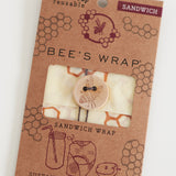 Wax Wrap - Honeycomb Print - Sandwich Wrap