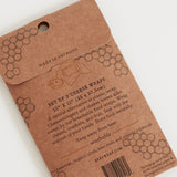 Wax Wrap - Honeycomb Print - Cheese 3 Pack