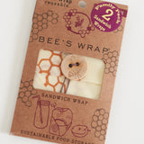 Wax Wrap - Honeycomb Print - 2 PACK Sandwich Wrap