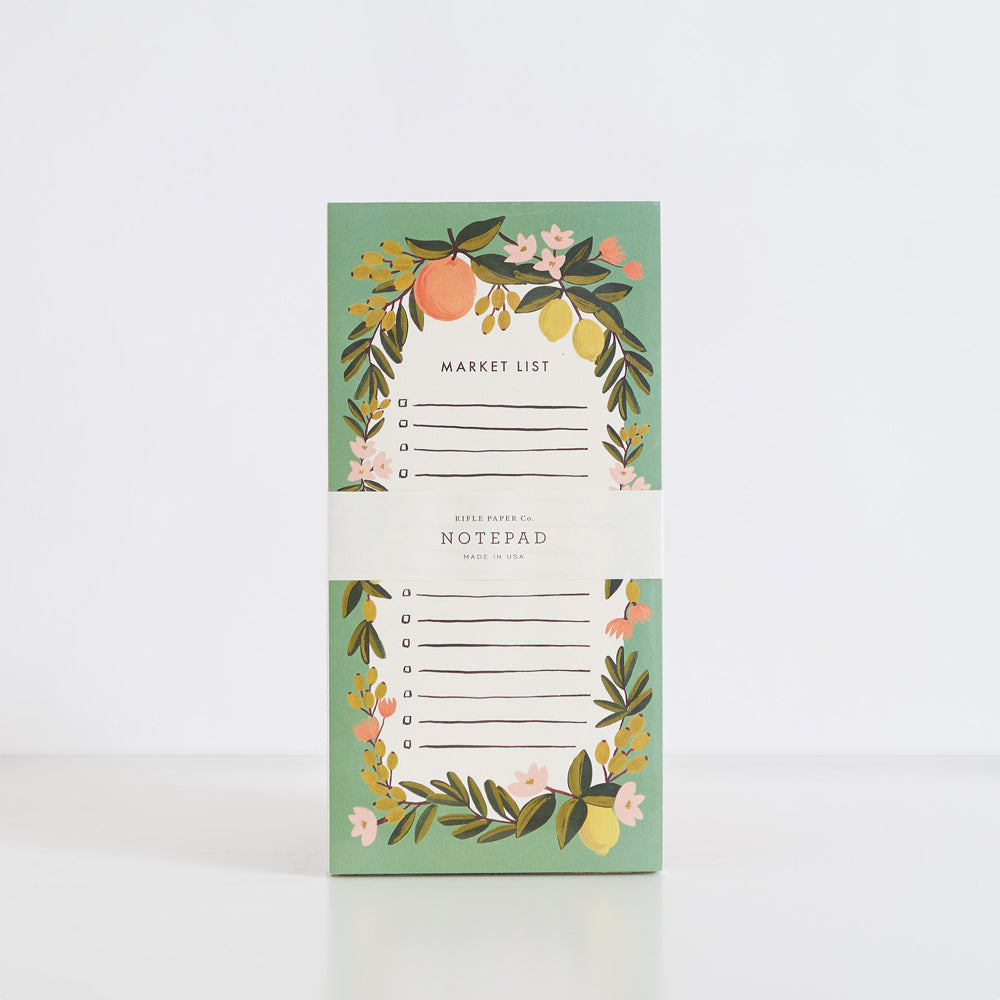 Citrus Floral Julep Tear-Off Shopping Notepad
