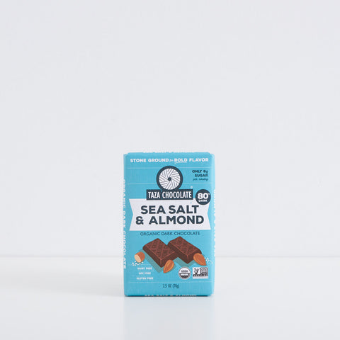 Sea Salt & Almond Dark Chocolate Bar
