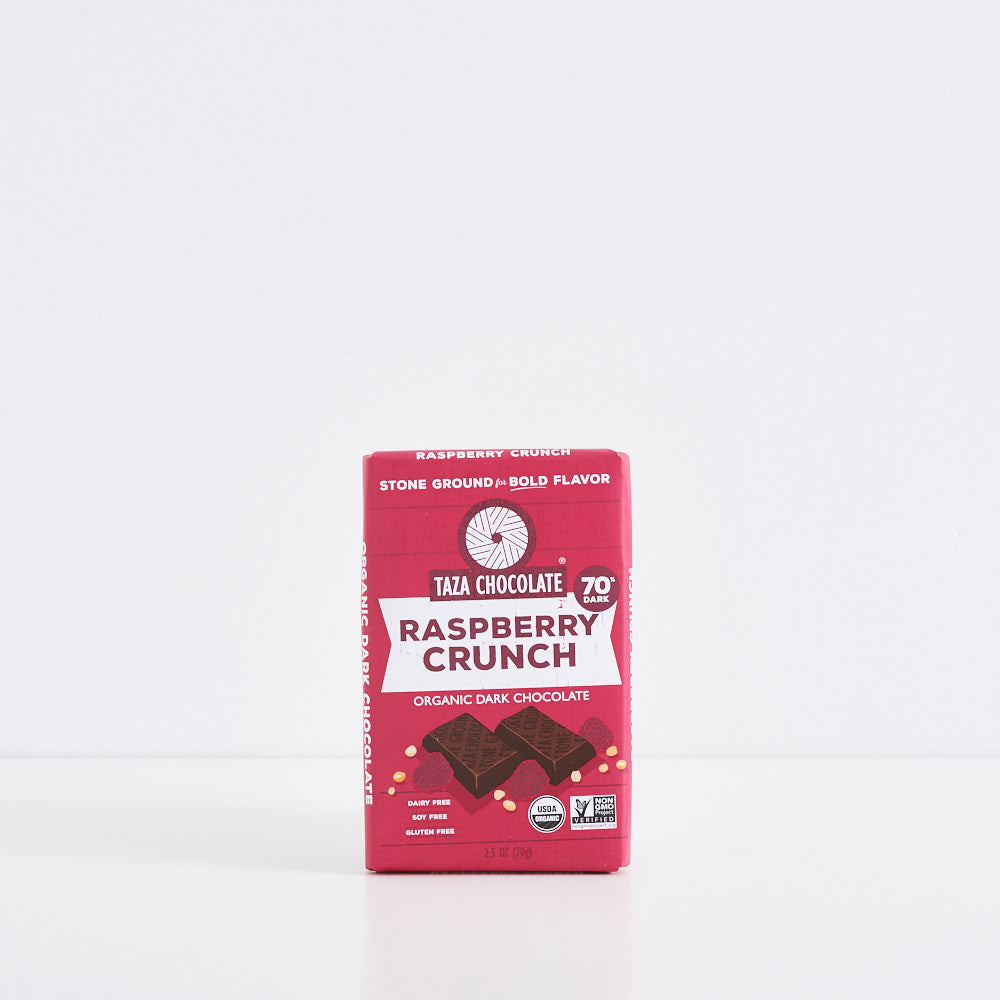 Raspberry Crunch Dark Chocolate Bar