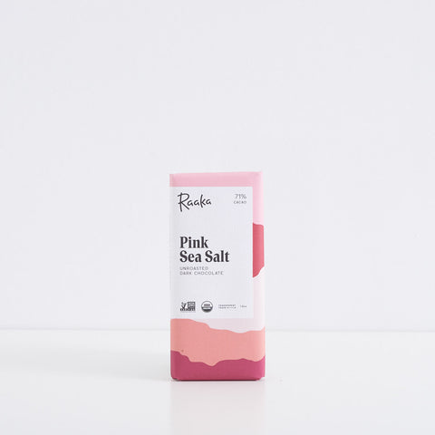 Raaka Pink Sea Salt 71% Chocolate Bar