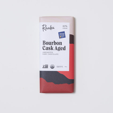 Raaka Bourbon Cask Aged 82% Chocolate Bar