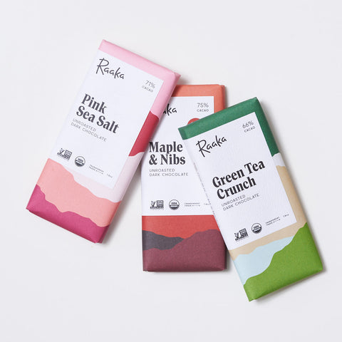 3 Pack Raaka Dark Chocolate Bars