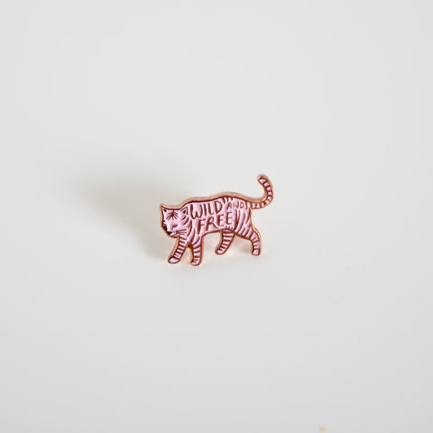 Wild and Free Enamel pin