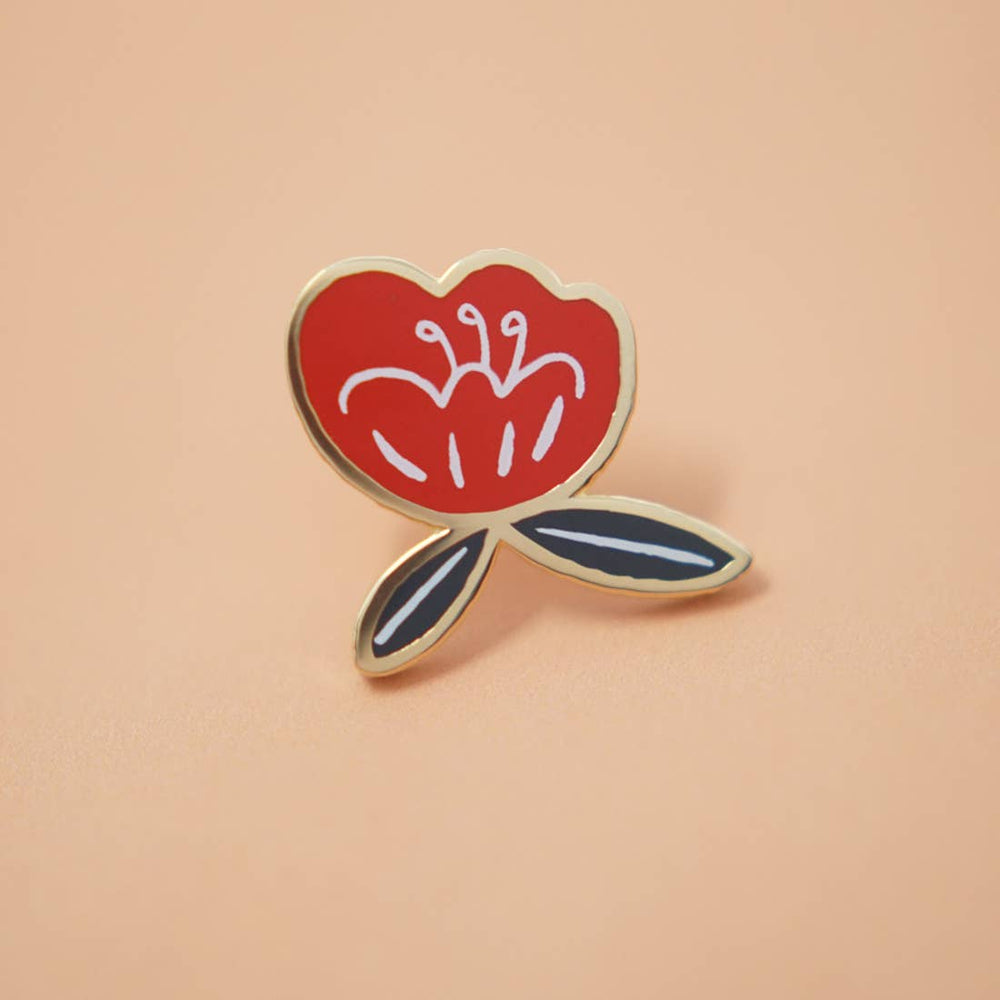 Poppy Flower Enamel Pin
