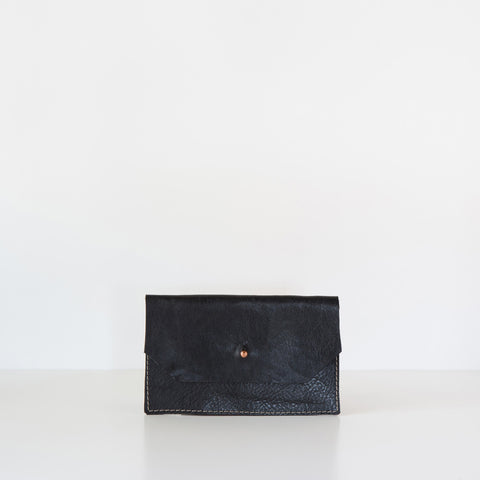 Arden Leather Mini Wallet - Black