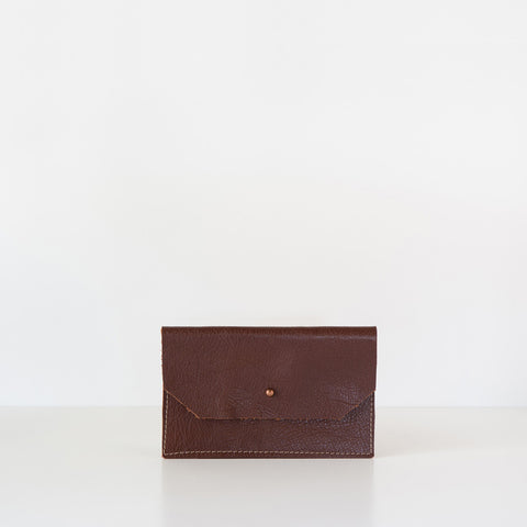Arden Leather Mini Wallet - Brown