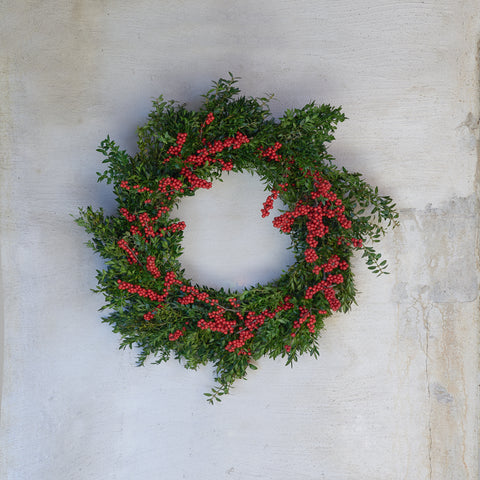 Boxwood & Winterberry Wreath