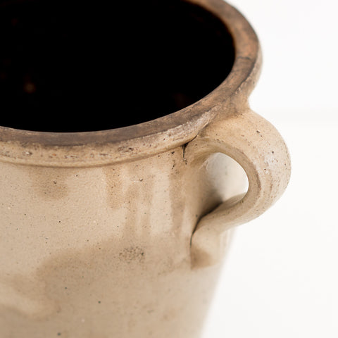 Tan Crock Stoneware With Handle