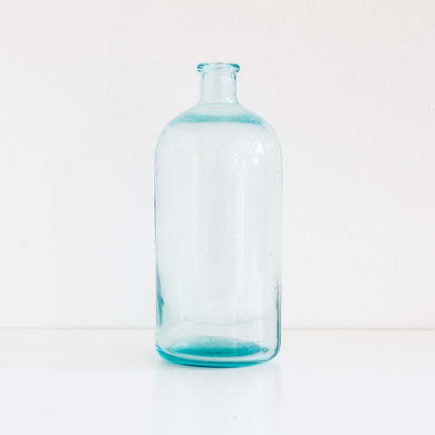 Large Blue Glass Bottle