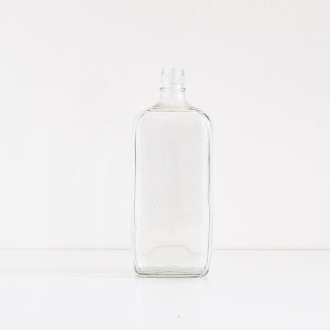 Simple Clear Glass Bottle