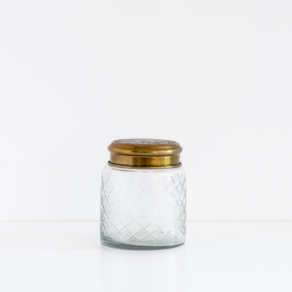 Medium Etched Glass Jar