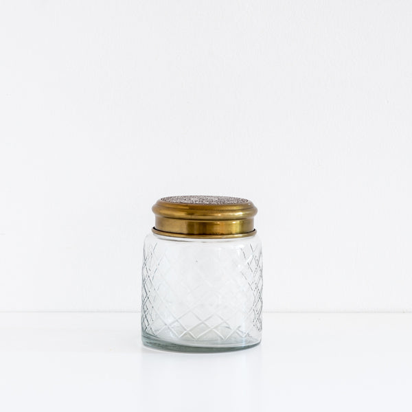 Etched Glass Jar